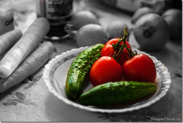 огурци и помидори