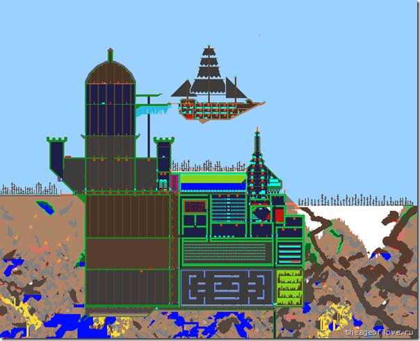 Замок-порт с воздушным кораблём