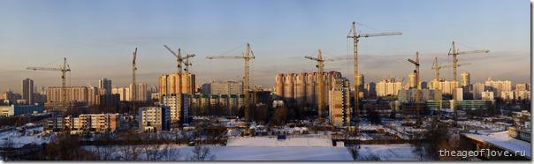 Стройка на ул. Левобережной, 5.03.2013