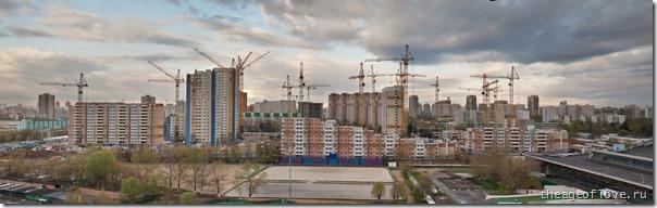 Стройка на ул. Левобережной, 06.05.2013