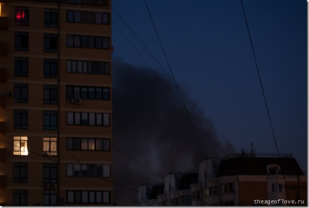 Пожар на Кронштадском бульваре