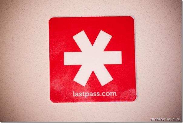 Очень прикольная наклейка LastPass