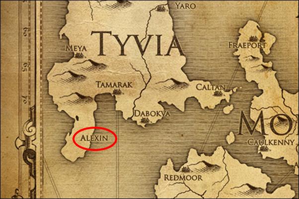 Алексин на карте мира Dishonored