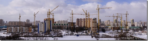 Стройка на ул. Левобережной, 26.03.2013