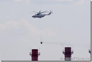 Ми-26 с полным ведром воды