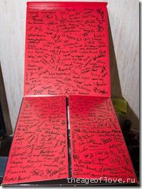 Автографы на коробке Ведьмака 3