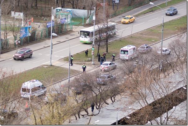 Авария на улице Дыбенко