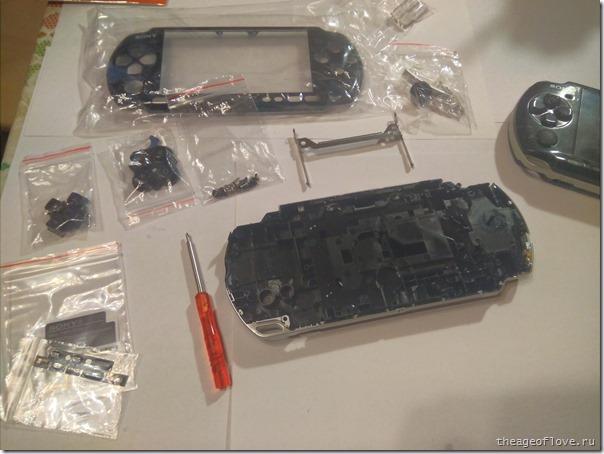Новый корпус для PSP 3000 готов к пересадке